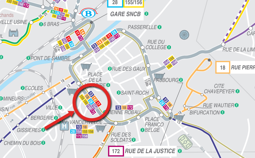 Venir en bus à l'Athénée Royal Pierre Paulus de Châtelet, ecole primaire et secondaire, secondaire général et technique, section plasturgie